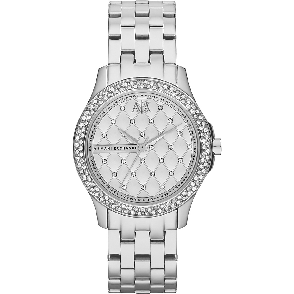 A X Armani Exchange Smart Womens Stainless Steel Watch Silver A X Armani Exchange Watches