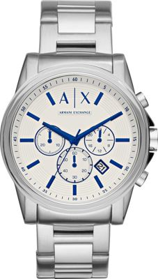 A/X Armani Exchange Chronograph Stainless Steel Watch Silver - A/X Armani Exchange Watches