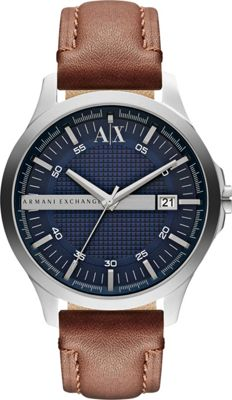 A/X Armani Exchange Street Leather Watch Brown - A/X Armani Exchange Watches