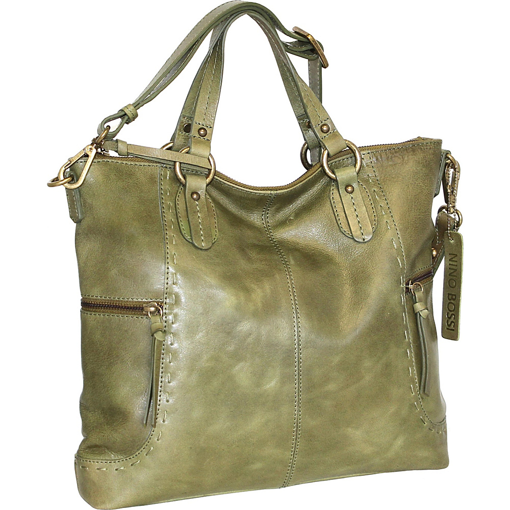 Nino Bossi Petunia Tote Green - Nino Bossi Leather Handbags - Handbags, Leather Handbags