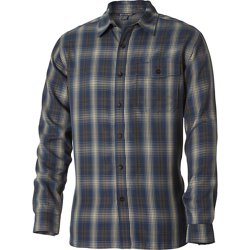Royal Robbins Pinecrest Plaid Long Sleeve Top S - Phoenix Blue - Royal Robbins Mens Apparel - Apparel & Footwear, Men's Apparel