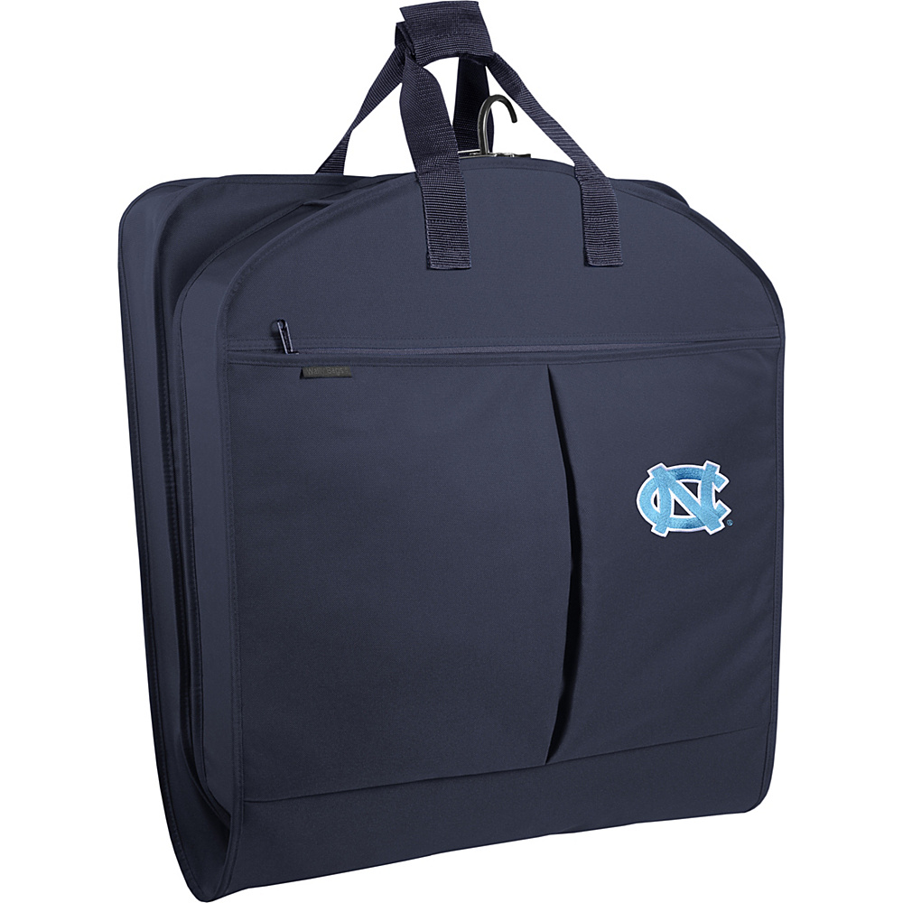 Wally Bags North Carolina Tar Heels 40 Suit Length Garment Bag with Pockets Navy - Wally Bags Garment Bags