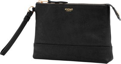 KNOMO London Mayfair Luxe Bond Charging Clutch Black - KNOMO London Leather Handbags