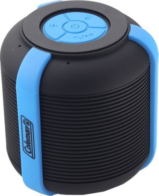 Coleman Mini Rugged Water Resistant Bluetooth Speaker Blue - Coleman Headphones & Speakers