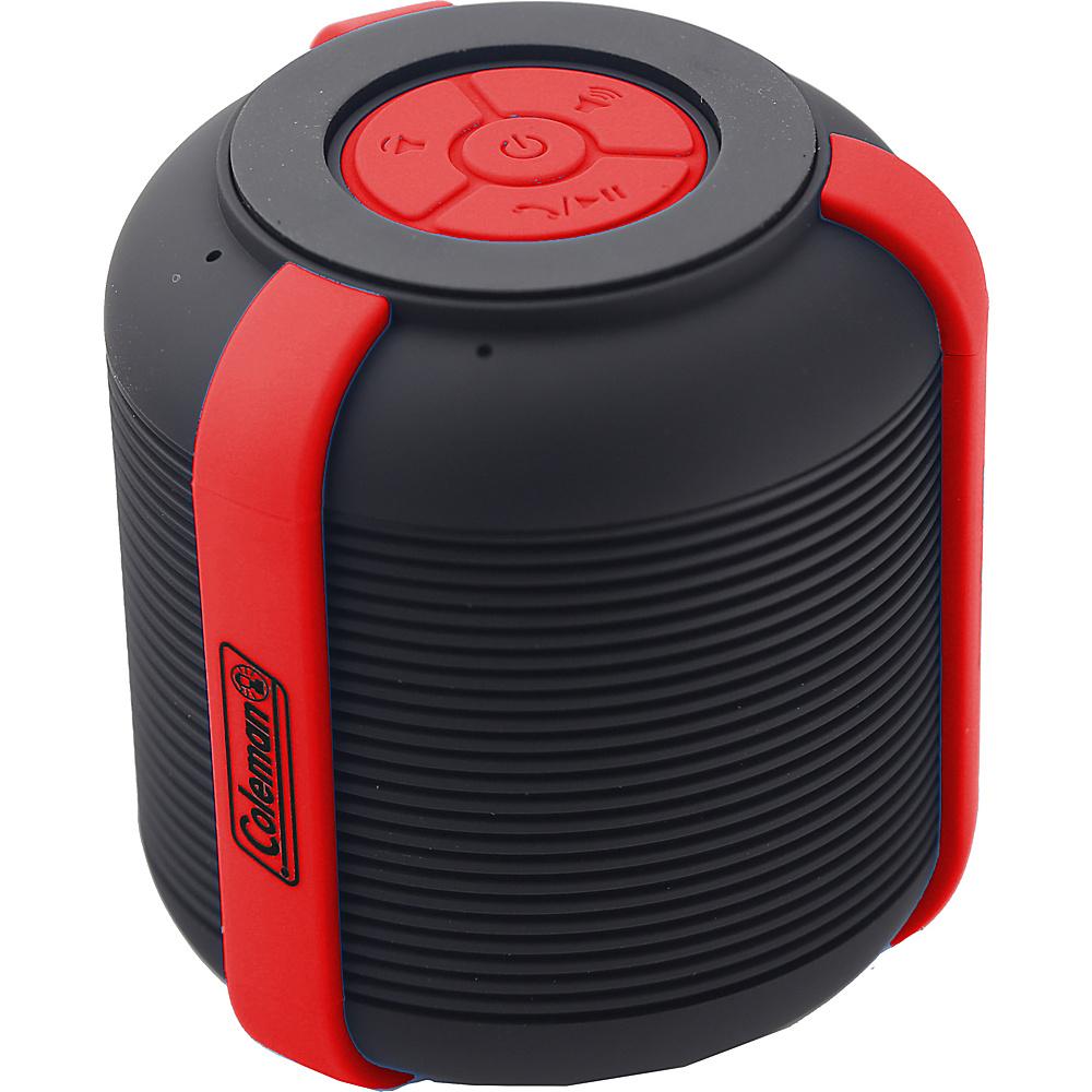 Coleman Mini Rugged Water Resistant Bluetooth Speaker Red Coleman Headphones Speakers