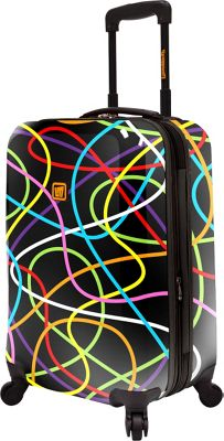 Loudmouth Scribblz 22 inch Expandable Carry-On Spinner Luggage Multi-Color & Black - Loudmouth Hardside Carry-On