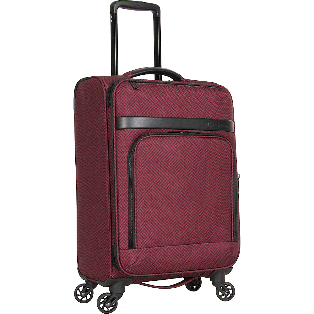 Ben Sherman Luggage York Collection 20 Carry On Luggage Cherry Brandy Herringbone Ben Sherman Luggage Softside Carry On