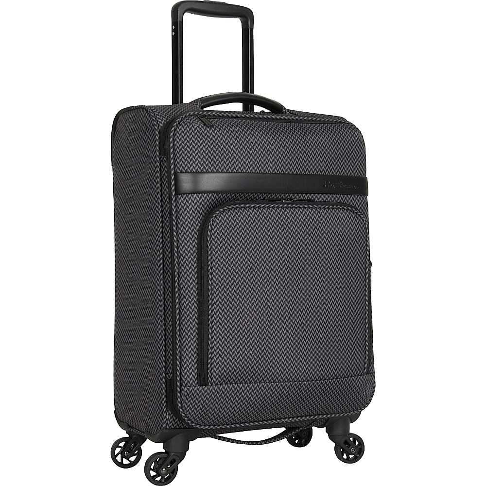 Ben Sherman Luggage York Collection 20 Carry On Luggage Black Grey Herringbone Ben Sherman Luggage Softside Carry On