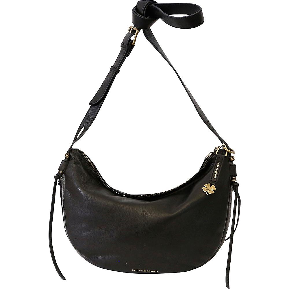Lucky Brand Nyla Crescent Hobo Crossbody Black - Lucky Brand Leather Handbags