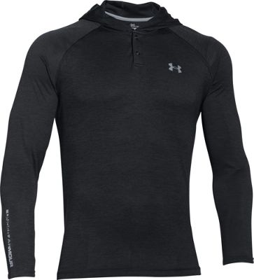 Under Armour UA Tech Popover Henly M - Black/Steel - Under Armour Men's Apparel 10493147