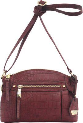 Jessica Simpson Viola Crossbody Maroon - Jessica Simpson Leather Handbags