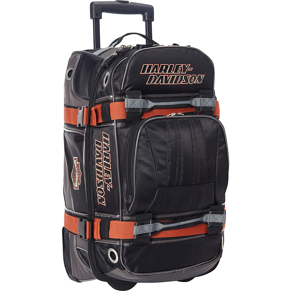 Harley Davidson by Athalon Harley Davidson 22 Wheeled Equipment Duffel Black Harley Davidson by Athalon Travel Duffels