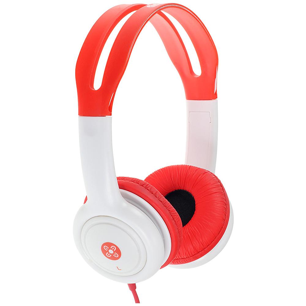 Moki Volume Limited Headphones for Kids Red Moki Headphones Speakers