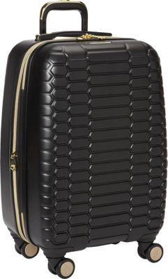 Aimee Kestenberg Boa Collection 20 inch Hardside 8-Wheel Carry-On Midnight Black - Aimee Kestenberg Hardside Carry-On