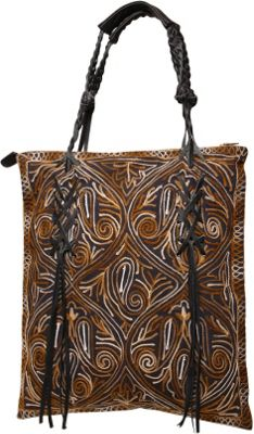 Ale by Alessandra Bambou Tote Brown - Ale by Alessandra Fabric Handbags