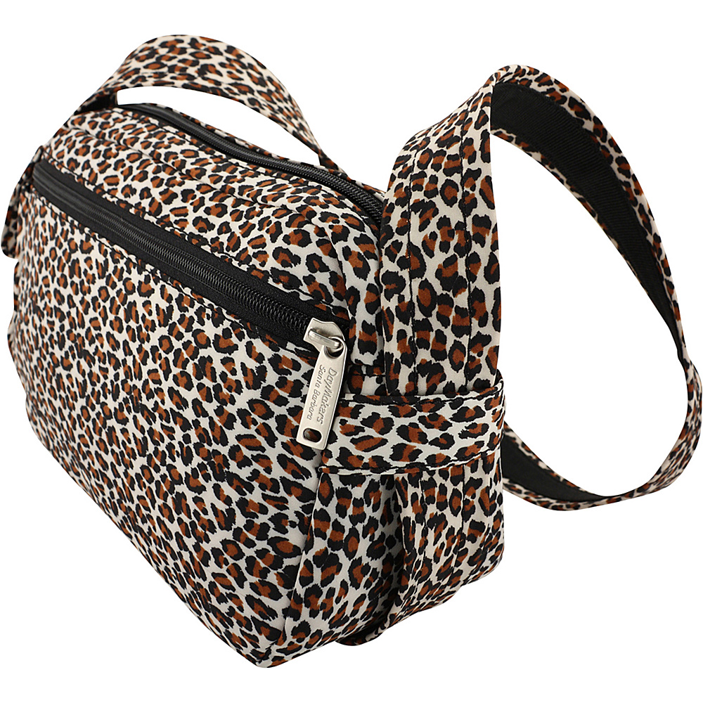 BeSafe by DayMakers Anti Theft 3 Way Convertible Roamer Waist Pack Leopard BeSafe by DayMakers Fabric Handbags