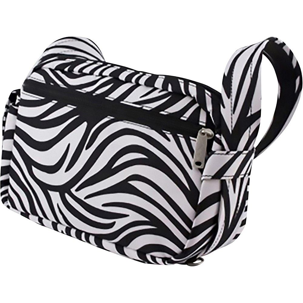 BeSafe by DayMakers Anti Theft 3 Way Convertible Roamer Waist Pack Zebra BeSafe by DayMakers Fabric Handbags