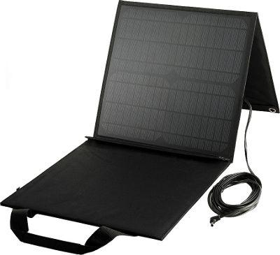 Lazervolt 60 Watt Folding Solar Panel 18v Black - Lazervolt Portable Batteries & Chargers