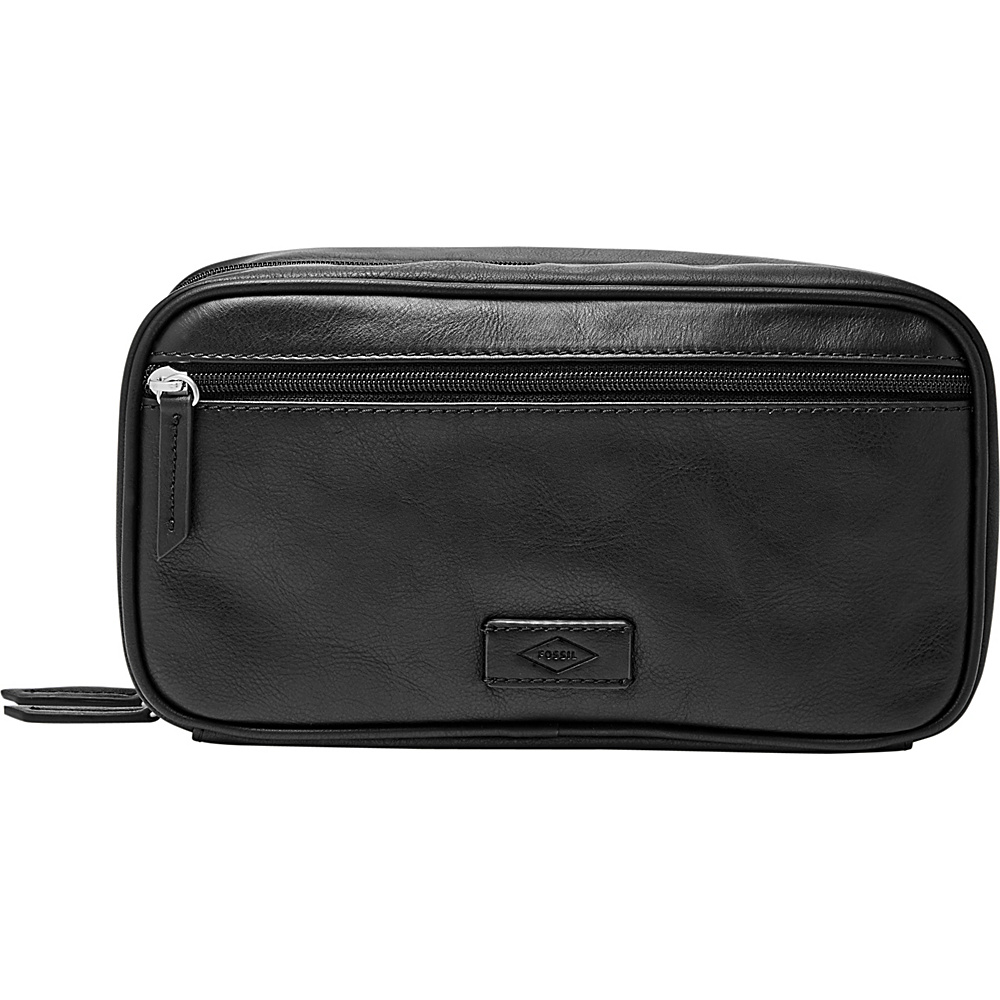 Fossil Double Zip Shave Kit Black - Fossil Packable Bags - Travel Accessories, Packable Bags
