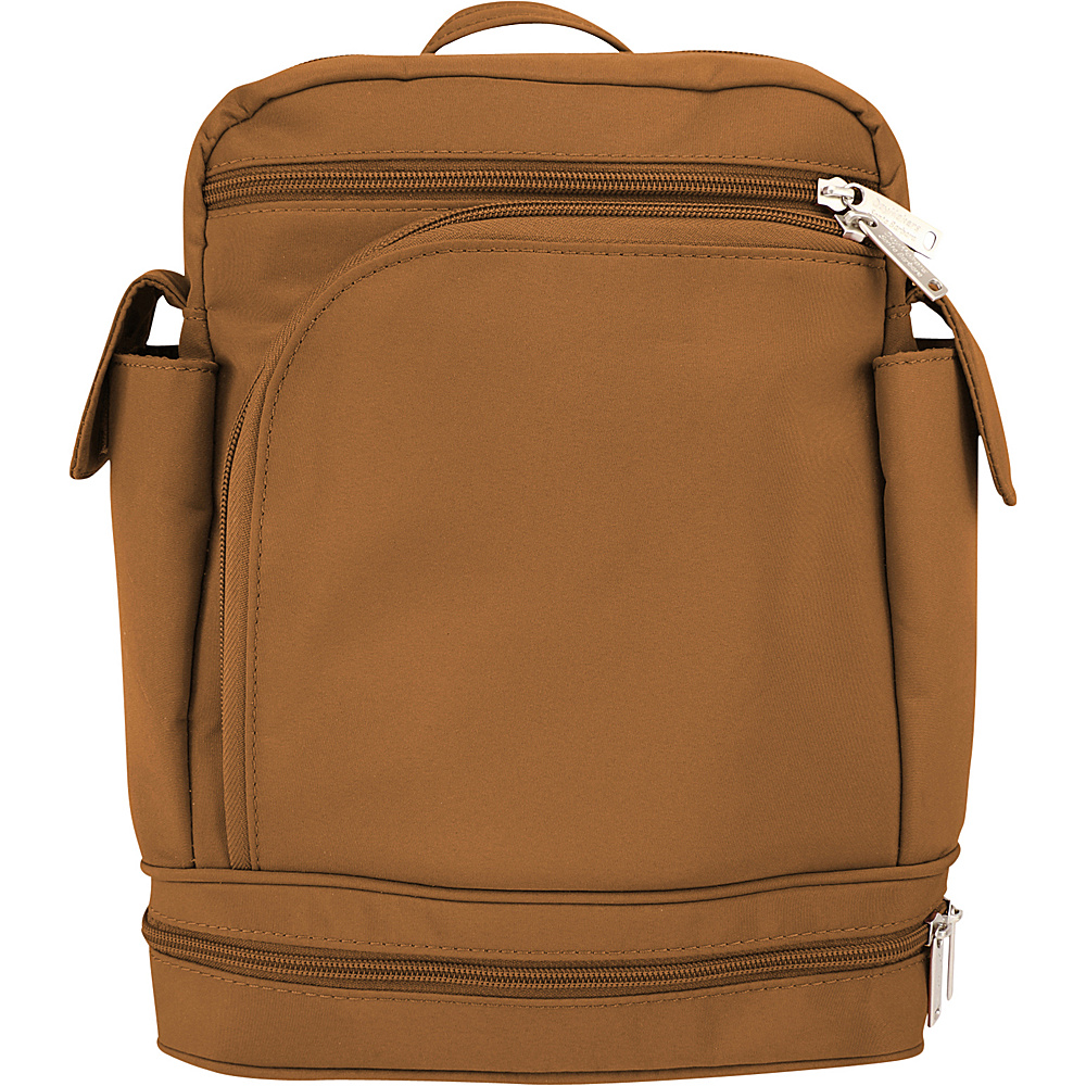 BeSafe by DayMakers Anti Theft Convertible Backpack Camel BeSafe by DayMakers Fabric Handbags