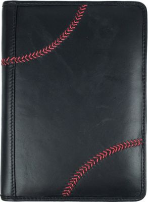 Rawlings Baseball Stitch Mini Padfolio/Tablet Case Black - Rawlings Business Accessories
