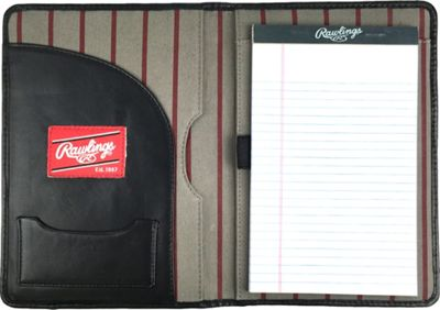 Rawlings Baseball Stitch Mini Padfolio/Tablet Case Black - Rawlings Business Accessories