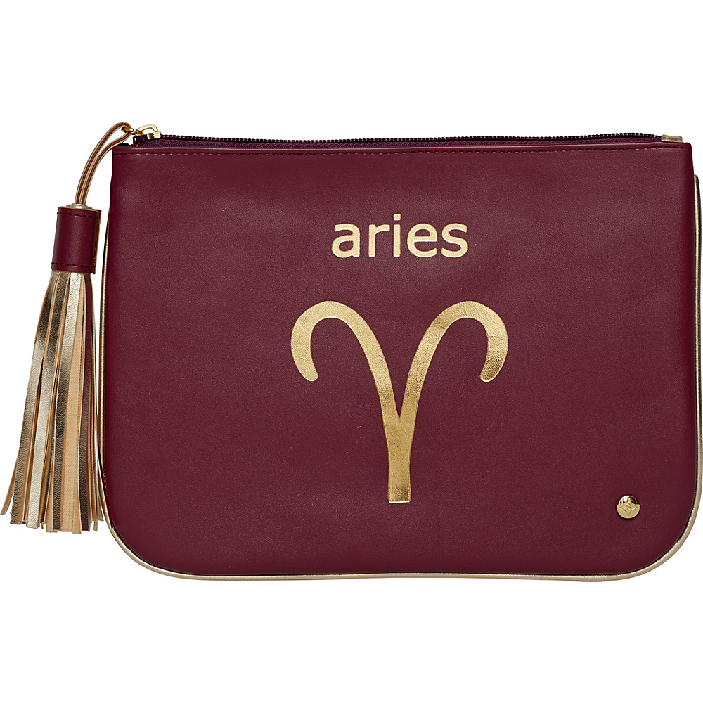 Stephanie Johnson Zodiac Large Flat Cosmetic Pouch Burgundy Aries Stephanie Johnson Women s SLG Other