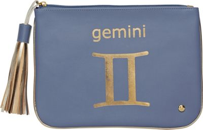 Stephanie Johnson Zodiac Large Flat Cosmetic Pouch Blue/Gemini - Stephanie Johnson Travel Health & Beauty