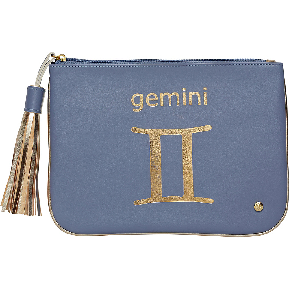 Stephanie Johnson Zodiac Large Flat Cosmetic Pouch Blue Gemini Stephanie Johnson Women s SLG Other