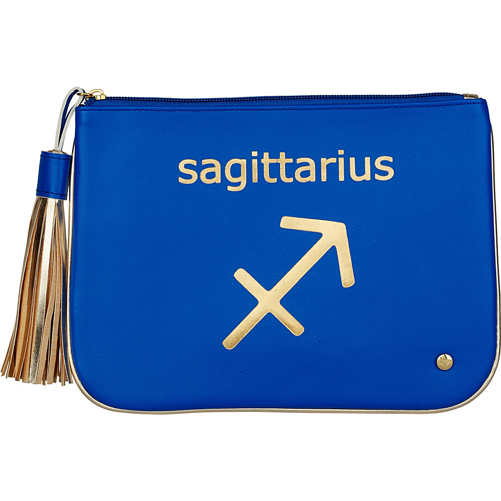 Stephanie Johnson Zodiac Large Flat Cosmetic Pouch Blue Sagittarius Stephanie Johnson Women s SLG Other