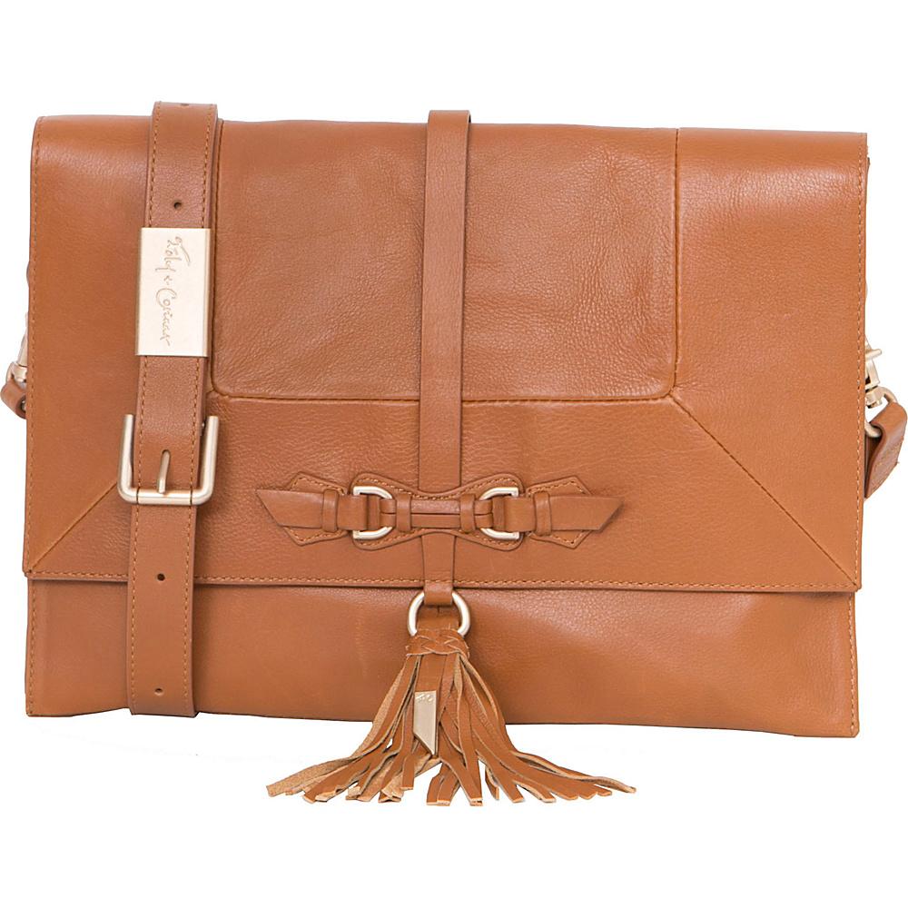 Foley Corinna Bo Convertible Clutch Honey Brown Foley Corinna Designer Handbags