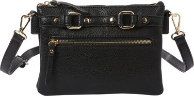 Hush Puppies Zella Crossbody Black - Hush Puppies Manmade Handbags