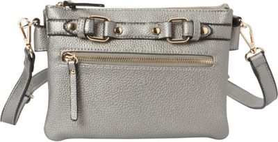 Hush Puppies Zella Crossbody Pewter - Hush Puppies Manmade Handbags