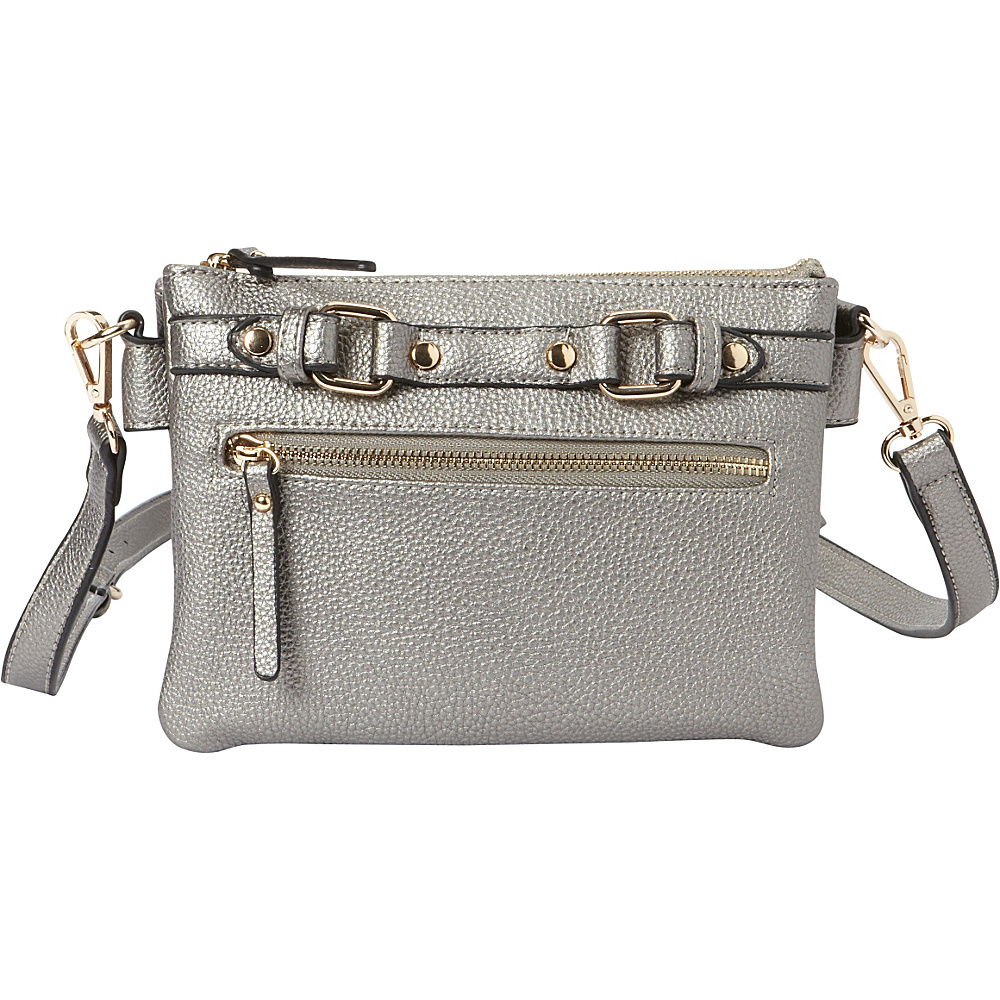 Hush Puppies Zella Crossbody Pewter Hush Puppies Manmade Handbags