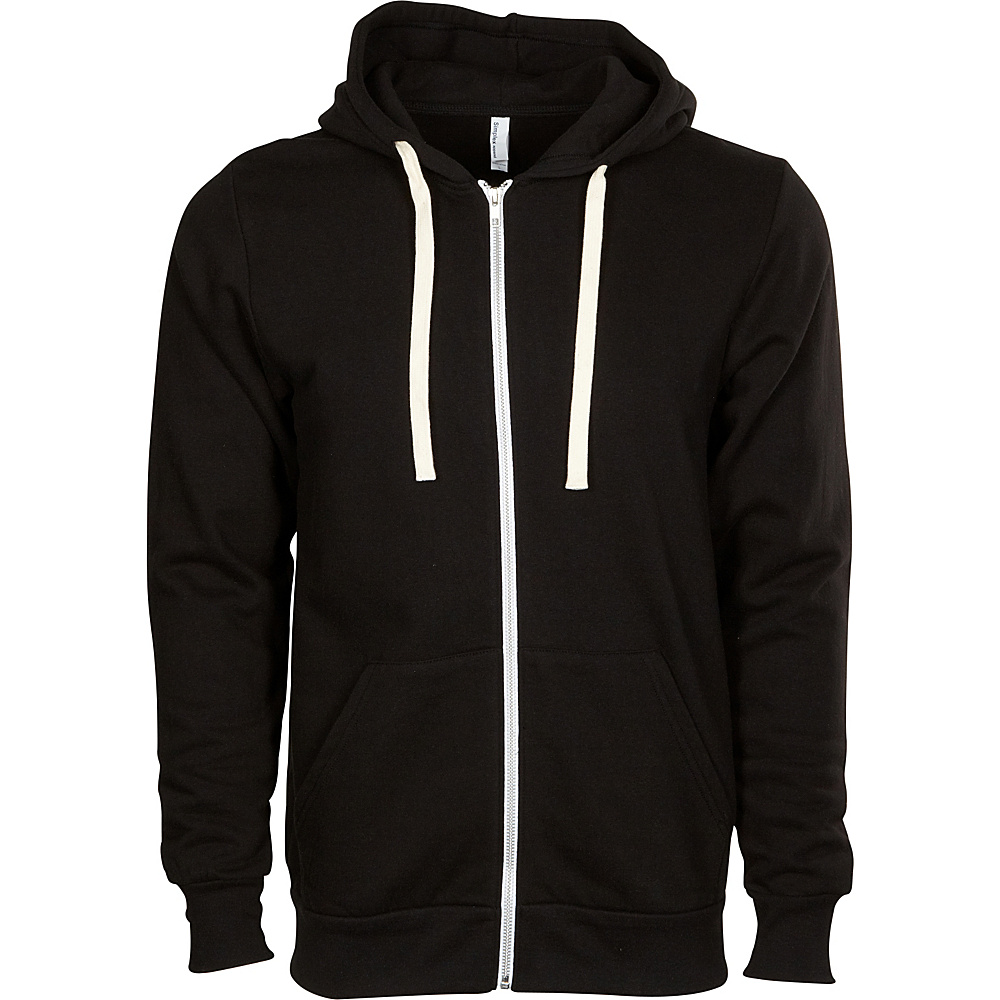 Simplex Apparel Zipper Hoodie S - Vintage Black - Simplex Apparel Mens Apparel - Apparel & Footwear, Men's Apparel