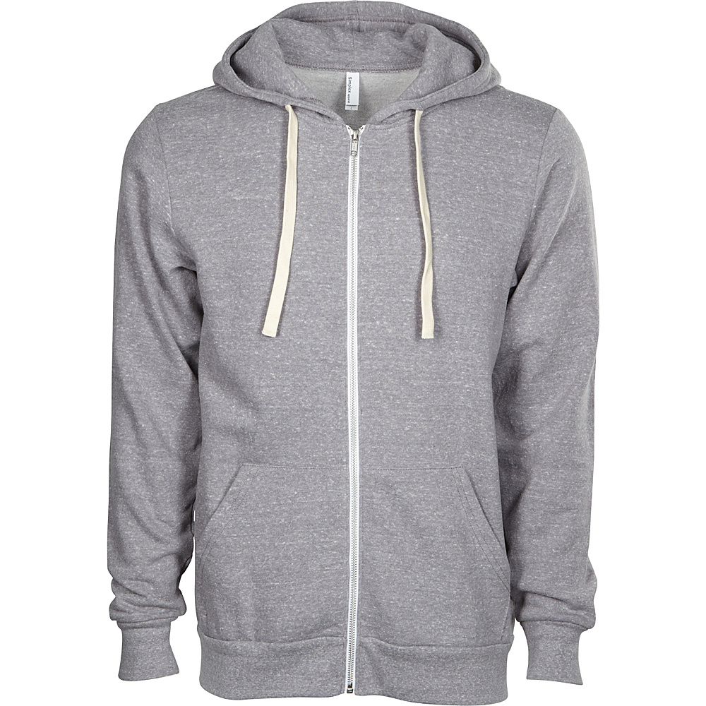 Simplex Apparel Zipper Hoodie M - Classic Heather Grey - Simplex Apparel Mens Apparel - Apparel & Footwear, Men's Apparel
