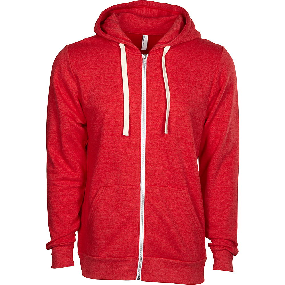 Simplex Apparel Zipper Hoodie 2XL - Classic Red - Simplex Apparel Mens Apparel - Apparel & Footwear, Men's Apparel