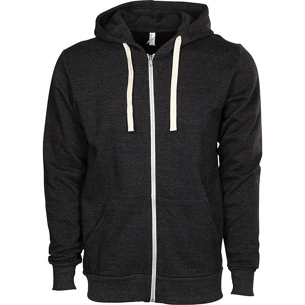 Simplex Apparel Zipper Hoodie M - Classic Charcoal Grey - Simplex Apparel Mens Apparel - Apparel & Footwear, Men's Apparel