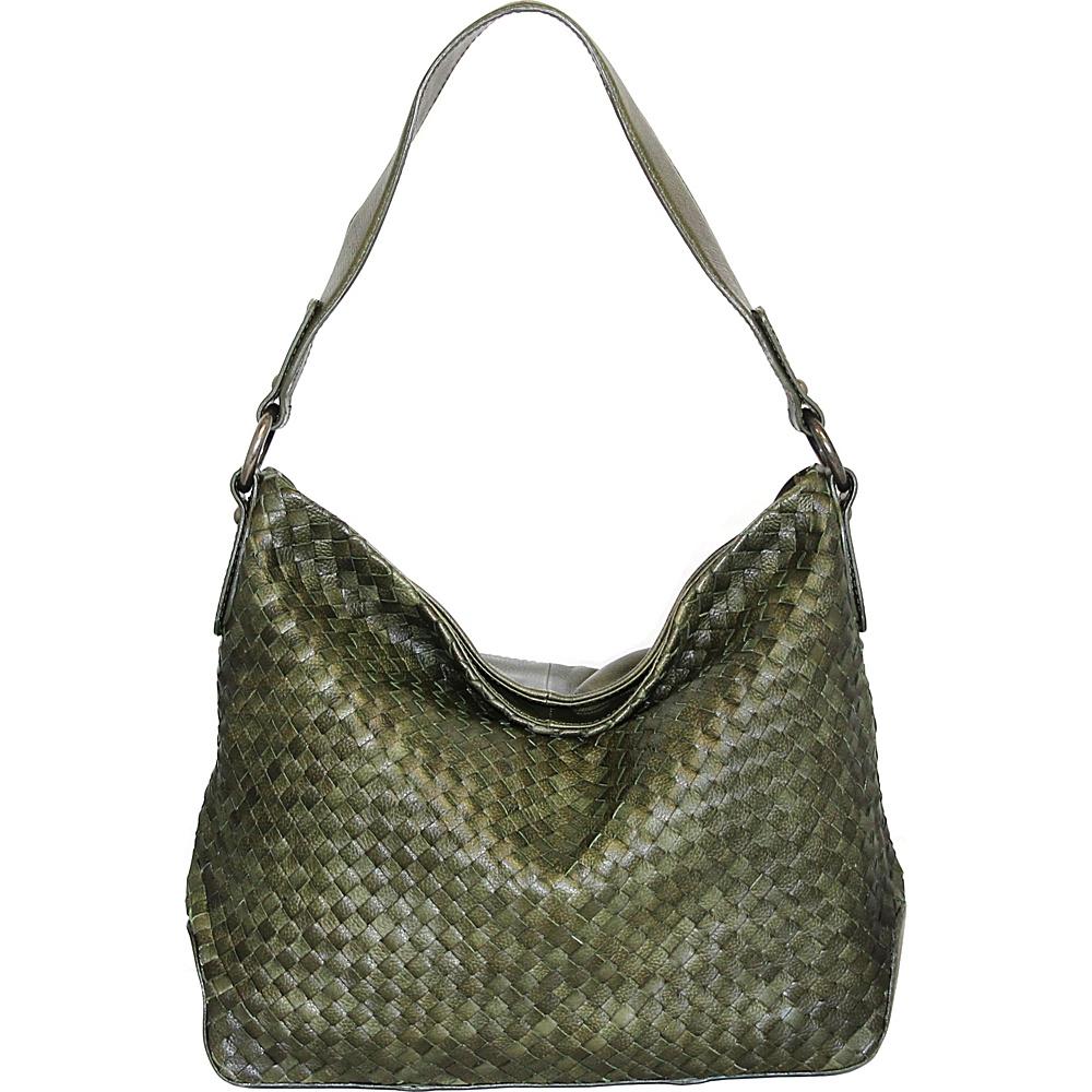 Nino Bossi Daisy Bloom Shoulder Bag Green - Nino Bossi Leather Handbags - Handbags, Leather Handbags