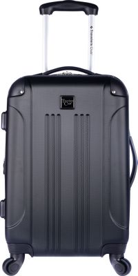 "Travelers Club Luggage 20"""" Expandable Hardside Rolling Carry-On Jet Black - Travelers Club Luggage Hardside Luggage"