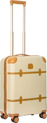 BRIC'S Bellagio 2.0 21 inch Carry-On Spinner Trunk Cream - BRIC'S Hardside Carry-On