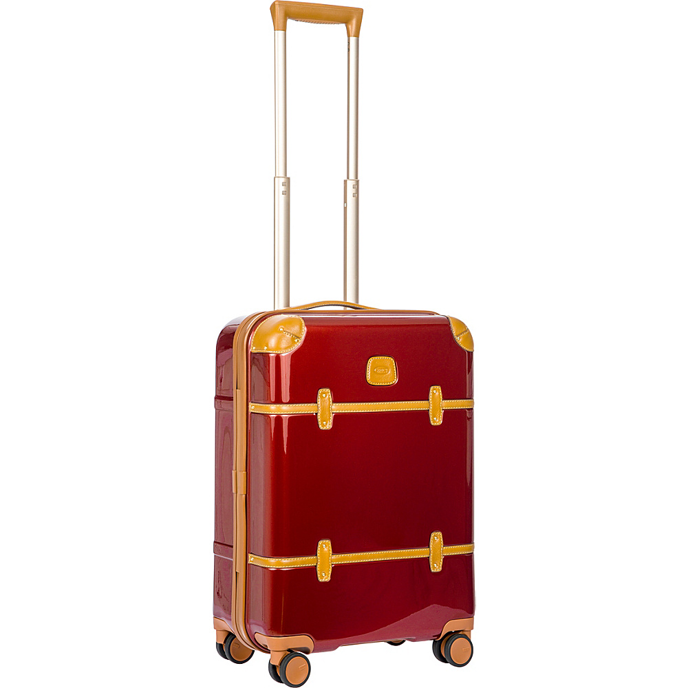 BRIC S Bellagio 2.0 21 Carry On Spinner Trunk Shiny Red BRIC S Hardside Carry On
