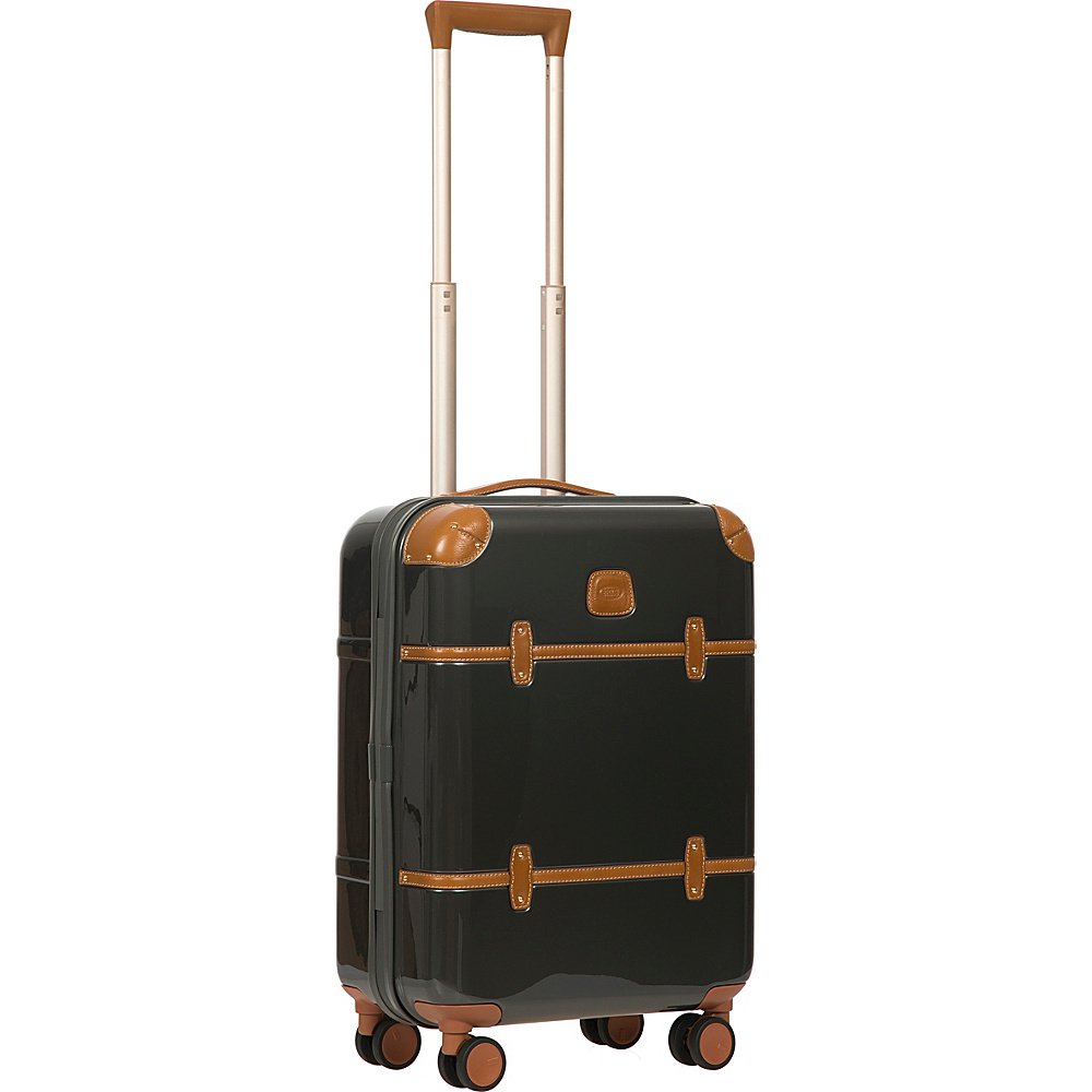 BRIC S Bellagio 2.0 21 Carry On Spinner Trunk Shiny Dark Grey BRIC S Hardside Carry On