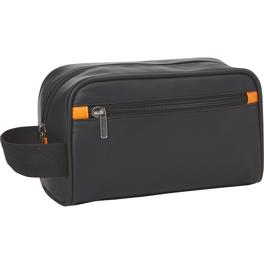 Ben Sherman Luggage Regent s Park Collection Single Compartment Top Zip Travel Kit Black Orange Ben Sherman Luggage Toiletry Kits