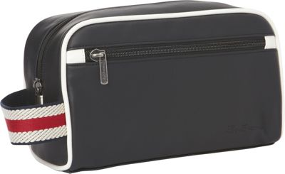 Ben Sherman Luggage Regent's Park Collection Single Compartment Top Zip Travel Kit Black / White - Ben Sherman Luggage Toiletry Kits