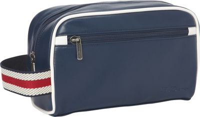 Ben Sherman Luggage Regent's Park Collection Single Compartment Top Zip Travel Kit Navy / White - Ben Sherman Luggage Toiletry Kits
