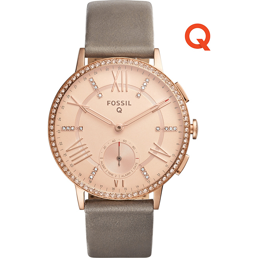 Fossil Q Gazer Leather Hybrid Smartwatch Grey - Fossil Wearable Technology - Technology, Wearable Technology