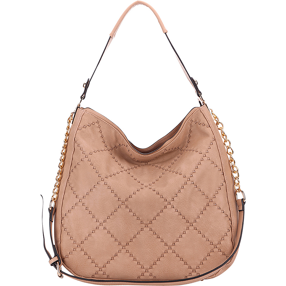 MKF Collection by Mia K. Farrow Dahlia Quilted Hobo By Mia K. Farrow Apricot - MKF Collection by Mia K. Farrow Manmade Handbags - Handbags, Manmade Handbags