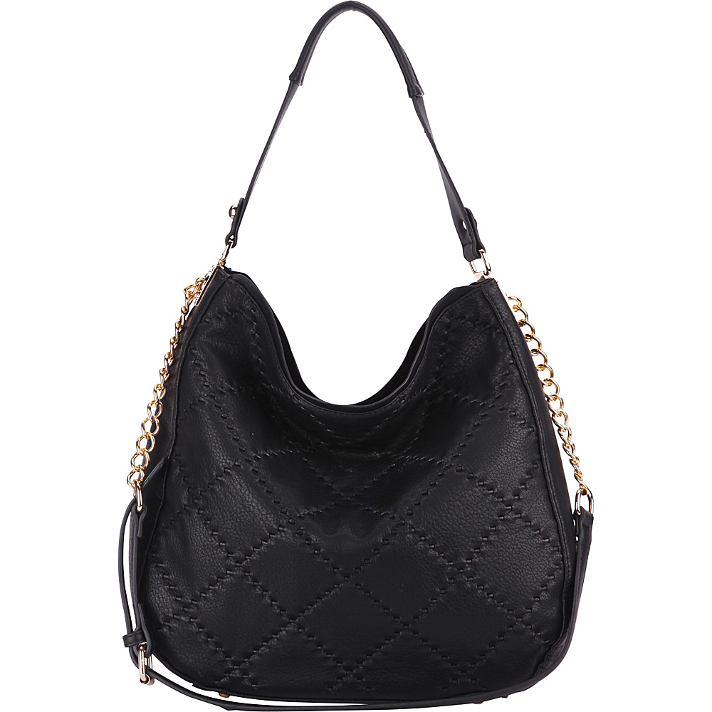 MKF Collection by Mia K. Farrow Dahlia Quilted Hobo By Mia K. Farrow Black - MKF Collection by Mia K. Farrow Manmade Handbags - Handbags, Manmade Handbags