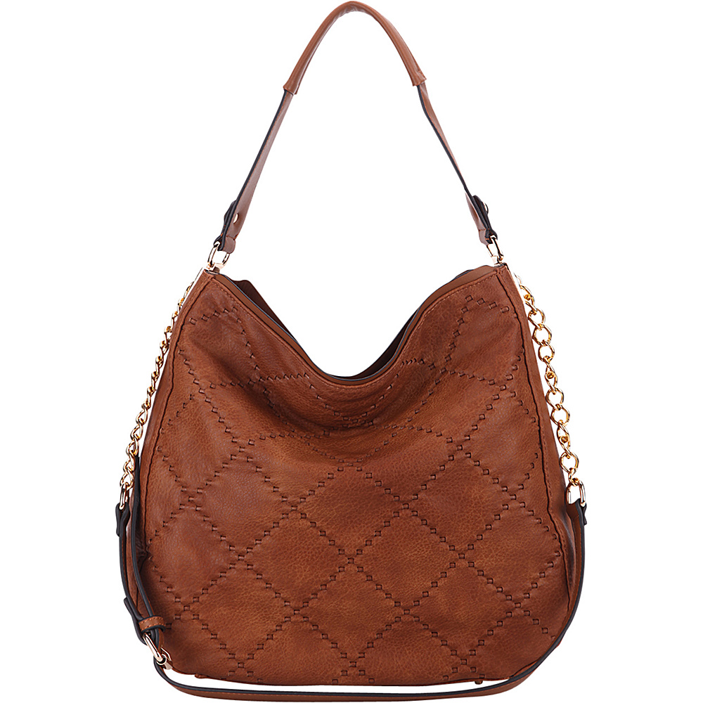 MKF Collection by Mia K. Farrow Dahlia Quilted Hobo By Mia K. Farrow Brown - MKF Collection by Mia K. Farrow Manmade Handbags - Handbags, Manmade Handbags